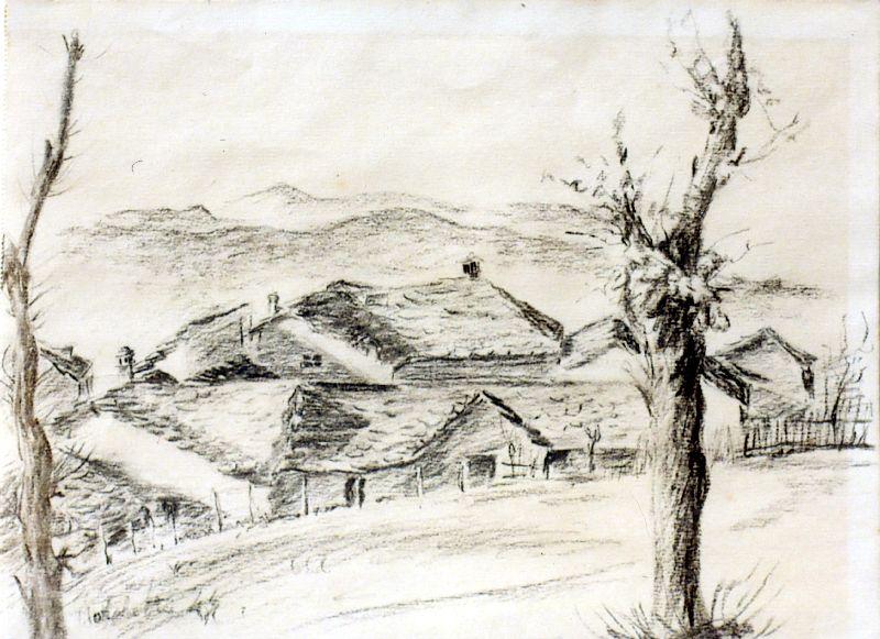 Le raccolte di attilio quadri per anno 1946 23 5x31 for Disegni bianco e nero paesaggi